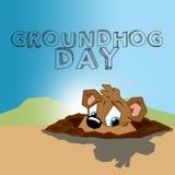 Jour de Groundhog Photo libre de droits