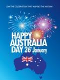 Jour de l'Australie illustration stock
