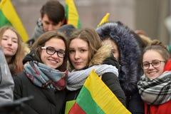 Jour de l'indépendance de la Lithuanie Photo stock