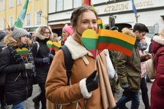 Jour de l'indépendance de la Lithuanie Photos libres de droits