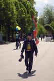 Jour de la célébration de garde frontière à Moscou Photo stock