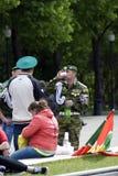 Jour de la célébration de garde frontière à Moscou Photographie stock