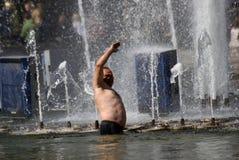Jour de la célébration de garde frontière à Moscou Photos stock