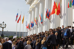 Jour de la connaissance dans les ressources minérales nationales université, St Petersburg, Russie Photos stock