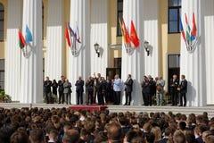 Jour de la connaissance dans les ressources minérales nationales université, St Petersburg, Russie Photo libre de droits
