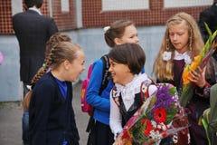 Jour de la connaissance Premier jour d'école Photographie stock libre de droits