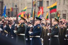 Jour de la Déclaration d'Indépendance à Vilnius Photo stock