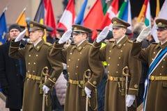 Jour de la Déclaration d'Indépendance à Vilnius Image libre de droits