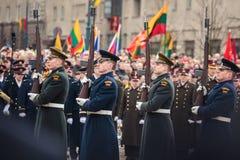 Jour de la Déclaration d'Indépendance à Vilnius Photo libre de droits