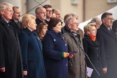 Jour de la Déclaration d'Indépendance à Vilnius Image stock