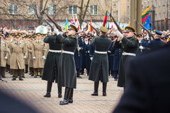 Jour de la Déclaration d'Indépendance à Vilnius Photos libres de droits