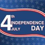 Jour de la Déclaration d'Indépendance, 4ème de juillet Images libres de droits