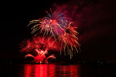 Jour de la Déclaration d'Indépendance, 4ème de l'affichage de feux d'artifice de juillet Photos libres de droits