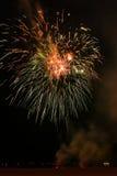 Jour de la Déclaration d'Indépendance 4ème des feux d'artifice de juillet chez Coney Island Brooklyn NY 2017 Images stock