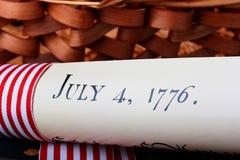 Jour de la Déclaration d'Indépendance Photo stock
