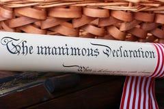 Jour de la Déclaration d'Indépendance Photographie stock