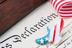 Jour de la Déclaration d'Indépendance Image stock