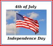 Jour de la Déclaration d'Indépendance Images libres de droits