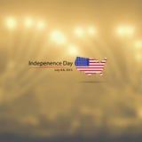 Jour de la Déclaration d'Indépendance américain de drapeau de carte illustration stock
