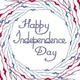 Jour de la Déclaration d'Indépendance américain, sur un fond blanc Photographie stock libre de droits