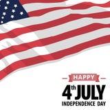 Jour de la Déclaration d'Indépendance Amérique Images stock