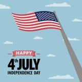 Jour de la Déclaration d'Indépendance Amérique Photos libres de droits