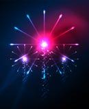 Jour de la Déclaration d'Indépendance conception heureuse de feux d'artifice du 4 juillet Image stock