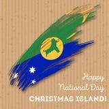 Jour de la Déclaration d'Indépendance d'Île Christmas patriotique Photo stock