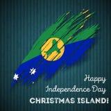 Jour de la Déclaration d'Indépendance d'Île Christmas patriotique Images stock