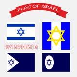 JOUR DE LA DÉCLARATION D'INDÉPENDANCE d'Israel Flag Images libres de droits