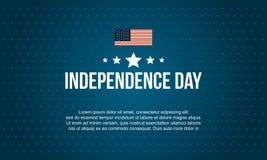 Jour de la Déclaration d'Indépendance de célébration de style de collection Image libre de droits