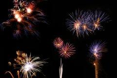 Jour de la Déclaration d'Indépendance de feu d'artifice Photos stock