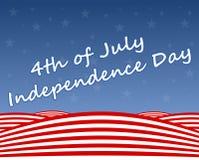 Jour de la Déclaration d'Indépendance de fond Photographie stock libre de droits