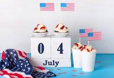 Jour de la Déclaration d'Indépendance de l'Amérique Photo stock