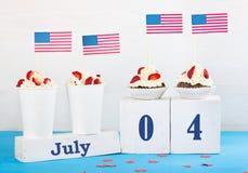 Jour de la Déclaration d'Indépendance de l'Amérique Photos stock