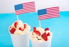 Jour de la Déclaration d'Indépendance de l'Amérique, le jour du drapeau américain Photographie stock libre de droits