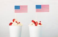 Jour de la Déclaration d'Indépendance de l'Amérique, le jour du drapeau américain Photos stock