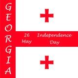 Jour de la Déclaration d'Indépendance de la Géorgie Photo stock