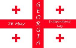 Jour de la Déclaration d'Indépendance de la Géorgie Photographie stock