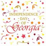Jour de la Déclaration d'Indépendance de la Géorgie Image libre de droits