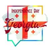 Jour de la Déclaration d'Indépendance de la Géorgie Photo libre de droits