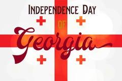 Jour de la Déclaration d'Indépendance de la Géorgie Photos stock