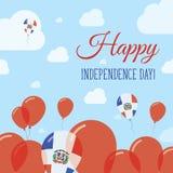 Jour de la Déclaration d'Indépendance de la République Dominicaine plat illustration libre de droits