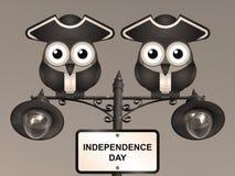 Jour de la Déclaration d'Indépendance de sépia Images stock
