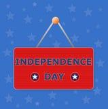 Jour de la Déclaration d'Indépendance de signe Images stock