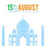 Jour de la Déclaration d'Indépendance de Taj Mahal Image stock