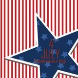 Jour de la Déclaration d'Indépendance des Etats-Unis Photos libres de droits
