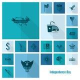 Jour de la Déclaration d'Indépendance des Etats-Unis Photos stock