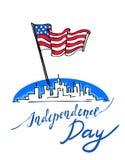 Jour de la Déclaration d'Indépendance des Etats-Unis Images libres de droits