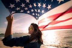 Jour de la Déclaration d'Indépendance des Etats-Unis, le 4 juillet Image libre de droits